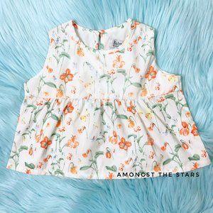 Baby CZ by Carolina Zapf White Floral Flare Dress
